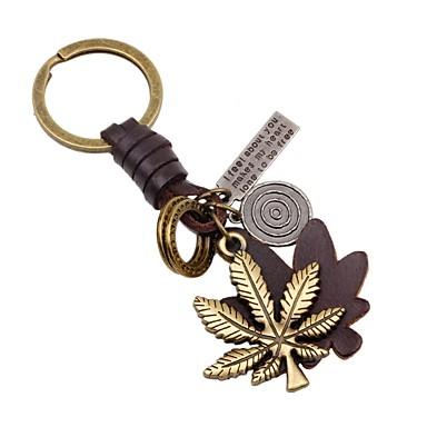 رخيصةأون سلاسل المفاتيح-سلسلة المفاتيح Leaf Shape كلاسيكي الكورية خواتم مجوهرات ذهبي من أجل مدرسة مناسب للخارج