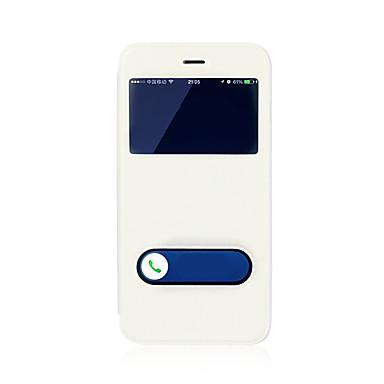 Недорогие Кейсы для iPhone 7 Plus-Кейс для Назначение Apple iPhone 8 Pluss / iPhone 8 / iPhone 7 Plus со стендом / с окошком / Флип Чехол Однотонный Твердый Кожа PU