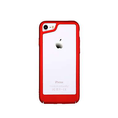 voordelige iPhone-hoesjes-hoesje Voor Apple iPhone X / iPhone 7 Plus / iPhone 7 Ultradun Bumper Effen Hard PC