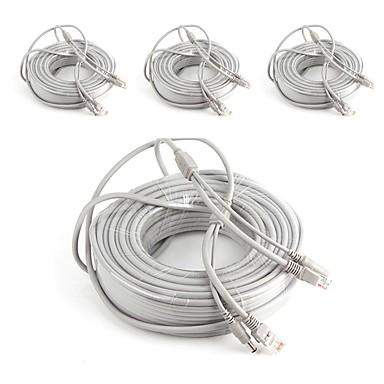 olcso CCTV rendszerek-Kábelek 4PCS 66ft CCTV RJ45 Video Network Cable DC Power Camera Extension mert Biztonság Systems 2000cm 1.7kg