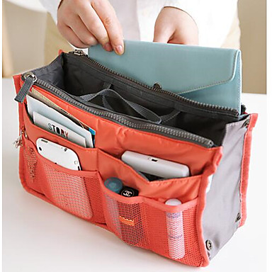 [$6.49] 1Pcs Women'S Fashion Bag In Bags Cosmetic Storage Organizer Makeup Casual Travel Handbag