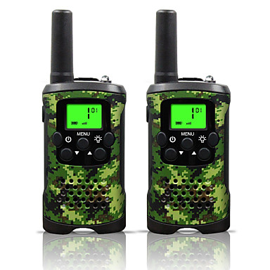 cheap Electrical & Tools-Two Way Radio Intercom 22 Channel 3 Miles Long Range Kids Walkie Talkies Boys Girls Toys Gifts Battery Powered Walky Talky with Flashlight for Outdoor Adventure Camping (Camo)