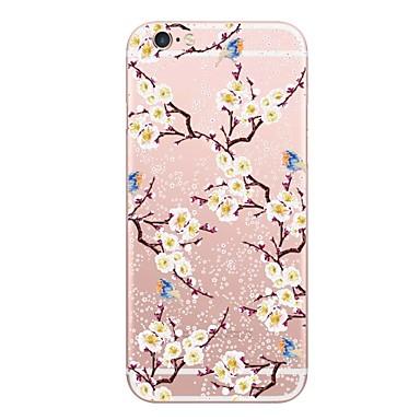 voordelige iPhone-hoesjes-hoesje Voor Apple iPhone X / iPhone 8 Plus / iPhone 8 Patroon Achterkant Bloem Zacht PU-nahka