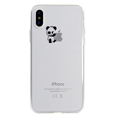 voordelige iPhone 5 hoesjes-hoesje Voor Apple iPhone X / iPhone 8 Plus / iPhone 8 Patroon Achterkant Spelen met Apple-logo / Panda Zacht TPU