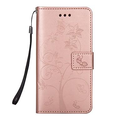 رخيصةأون حافظات / جرابات هواتف جالكسي S-غطاء من أجل Samsung Galaxy S8 Plus / S8 / S7 edge محفظة / حامل البطاقات / مع حامل غطاء كامل للجسم حيوان / شجرة قاسي جلد PU