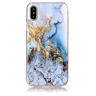 povoljno Maske za iPhone 5c-Θήκη Za Apple iPhone X / iPhone 8 Plus / iPhone 8 IMD / Uzorak Stražnja maska Mramor Mekano TPU