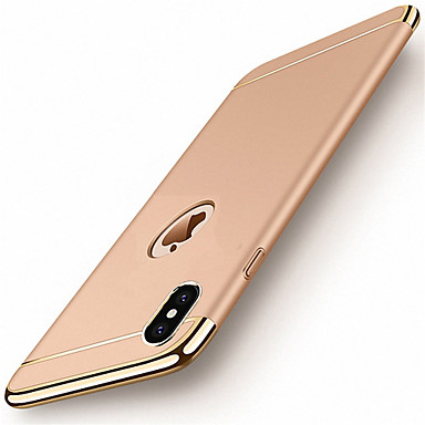 cheap iPhone Cases-Case For Apple iPhone X / iPhone 8 Plus / iPhone 8 Plating Back Cover Solid Colored Hard PC