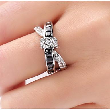 povoljno Prstenje-Žene Band Ring Prestenje knuckle ring prsten za palac Sapphire Kubični Zirconia Zelen Svjetloplav Navy Plava Zircon Kamen Geometric Shape dame Neobično Jedinstven dizajn Vjenčanje Party Jewelry X