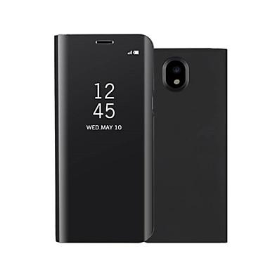 voordelige Galaxy J-serie hoesjes / covers-hoesje Voor Samsung Galaxy On7(2016) / On5(2016) / J7 Prime met standaard / Spiegel / Flip Volledig hoesje Effen Hard PU-nahka