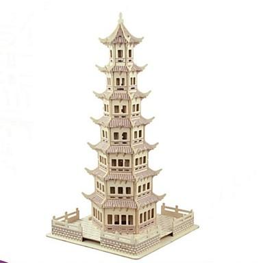 قطع تركيب3D مجموعات البناء النماذج الخشبية المنازل فاشن برج الاطفال تصميم جديد عرض ساخن خشبي 1 pcs كلاسيكي الحديث المعاصر موضة للأطفال للبالغين للصبيان للفتيات ألعاب هدية / اصنع بنفسك