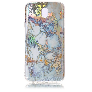 voordelige Galaxy J-serie hoesjes / covers-hoesje Voor Samsung Galaxy J7 (2017) / J5 (2017) / J3 (2017) Beplating / IMD Achterkant Marmer Zacht TPU