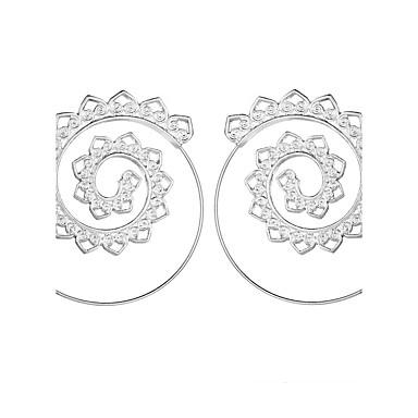 ieftine Cercei-Pentru femei Cercei Rotunzi filigran Val femei Elegant Vintage De Fiecare Zi cercei Bijuterii Auriu / Argintiu Pentru Crăciun Nuntă Petrecere Cadou Scenă Club