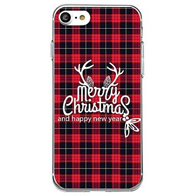 hoesje Voor iPhone 7 / iPhone 7 Plus / iPhone 6s Plus iPhone 8 Plus / iPhone 8 / iPhone SE / 5s Patroon Achterkant Kerstmis Zacht TPU / iPhone X