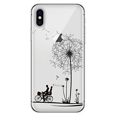 voordelige iPhone X hoesjes-hoesje Voor Apple iPhone X / iPhone 8 Plus / iPhone 8 Patroon Achterkant Paardebloem / Bloem Zacht TPU