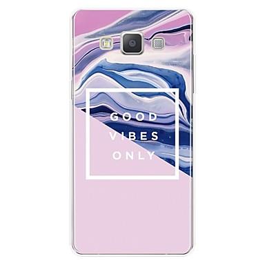 voordelige Galaxy A-serie hoesjes / covers-hoesje Voor Samsung Galaxy A3 (2017) / A5 (2017) / A7 (2017) Patroon Achterkant Lijnen / golven / Woord / tekst / Marmer Zacht TPU