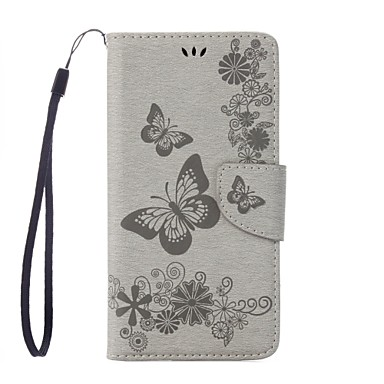 cheap Motorola Case-Case For Motorola Moto G5 Plus / Moto G4 Plus Wallet / Card Holder / with Stand Full Body Cases Butterfly Hard PU Leather