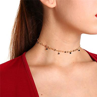 olcso Pendant-Női Kristály Rövid nyakláncok Függők Lógó hölgyek Egyszerű Édes Réz Arany Ezüst Nyakláncok Ékszerek Kompatibilitás Parti Napi
