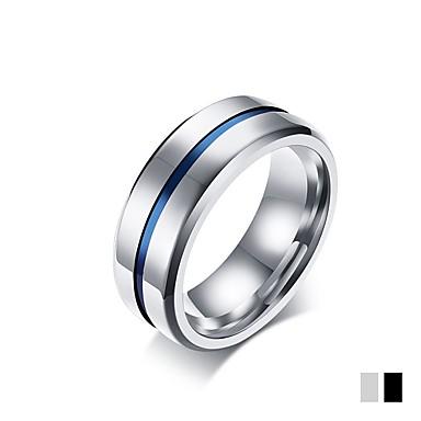 olcso Gyűrűk-Férfi Band Ring Titán Matt fekete Titánium Circle Shape Klasszikus Elegáns Esküvő Parti Ékszerek / Napi