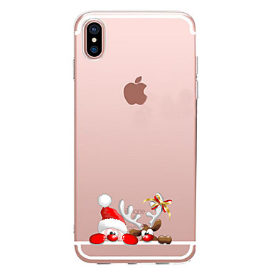 voordelige iPhone 6 hoesjes-hoesje Voor Apple iPhone XS / iPhone XR / iPhone XS Max Transparant / Patroon Achterkant Cartoon / Kerstmis Zacht TPU
