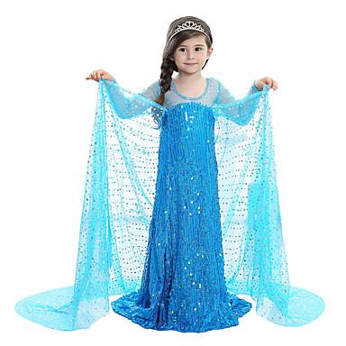 Elsa Pige Prinsesse Børne Kjoler Eventyr Jul Fødselsdag wCqIqa5