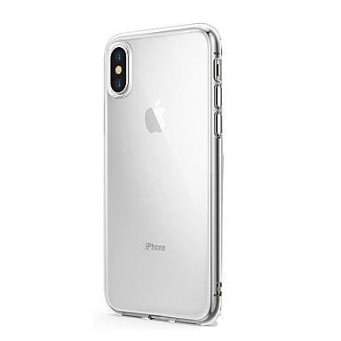 hoesje Voor Apple iPhone X / iPhone 8 Plus / iPhone 8 Ultradun / Transparant Achterkant Effen Zacht Siliconen