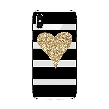 voordelige iPhone 5c hoesjes-hoesje Voor Apple iPhone X / iPhone 8 Plus / iPhone 8 Patroon Achterkant Lijnen / golven / Hart / Glitterglans Zacht TPU