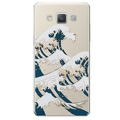 voordelige Galaxy A-serie hoesjes / covers-hoesje Voor Samsung Galaxy A3 (2017) / A5 (2017) / A7 (2017) Patroon Achterkant Lijnen / golven Zacht TPU