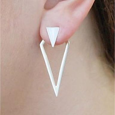 Žene Sitne naušnice Naušnice sprijeda i straga Magic Back Earring Statement dame Vintage Moda Naušnice Jewelry Zlato / Pink Za Klub Jabuka