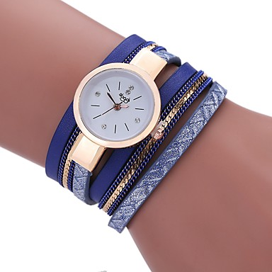 901855748e8e Mujer Reloj Pulsera envolver reloj Cuarzo Cuero Sintético Acolchado Negro    Blanco   Azul La imitación de diamante Analógico damas Borla Casual Bohemio  Moda ...