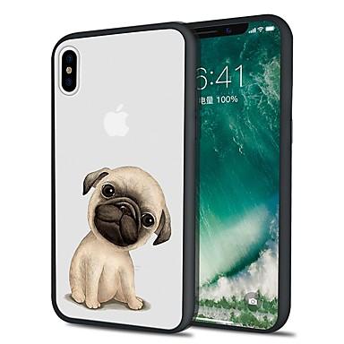 voordelige iPhone 6 Plus hoesjes-hoesje Voor Apple iPhone X / iPhone 8 Plus / iPhone 8 Patroon Achterkant Hond Zacht TPU