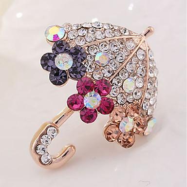 povoljno Broševi-Žene Broševi Kišobran dame Klasik Imitacija dijamanta Broš Jewelry Zlato Za Dnevno