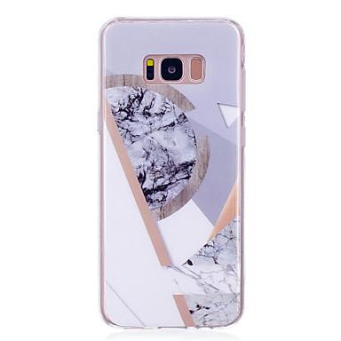 voordelige Galaxy S-serie hoesjes / covers-hoesje Voor Samsung Galaxy S8 Plus / S8 / S7 edge IMD Achterkant Marmer Zacht TPU