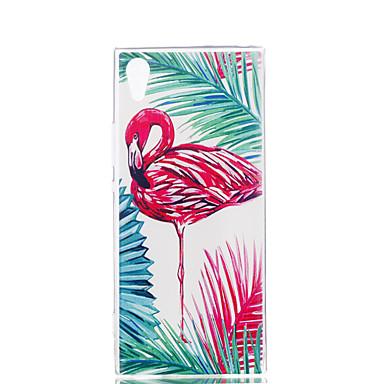 voordelige Hoesjes / covers voor Sony-hoesje Voor Sony / Sony Xperia XA Xperia XZ1 Compact / Sony Xperia XZ1 / Sony Xperia XA1 Ultradun / Patroon Achterkant Flamingo Zacht TPU