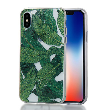 voordelige iPhone-hoesjes-hoesje Voor Apple iPhone X / iPhone 8 Plus / iPhone 8 IMD / Patroon Achterkant Boom / Glitterglans Zacht TPU