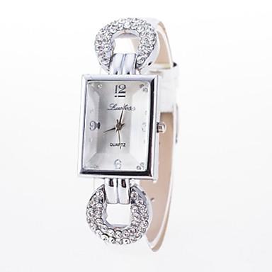 olcso Páros karórák-Női Páros Karóra Diamond Watch Kvarc Fekete / Fehér / Kék Alkalmi óra Analóg - Digitális hölgyek Virág Szikra Szimulált gyémántóra Divat - Kávé Piros Rózsaszín