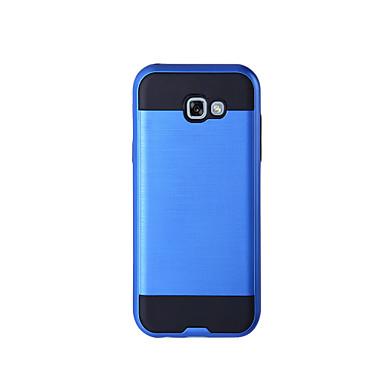 Недорогие Чехлы и кейсы для Galaxy A5-Кейс для Назначение SSamsung Galaxy A3 (2017) / A5 (2017) / A7 (2017) Защита от удара Чехол Однотонный Твердый ТПУ