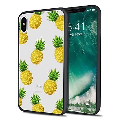 voordelige iPhone 8 hoesjes-hoesje Voor Apple iPhone X / iPhone 8 Plus / iPhone 8 Patroon Achterkant Voedsel / Fruit Zacht TPU