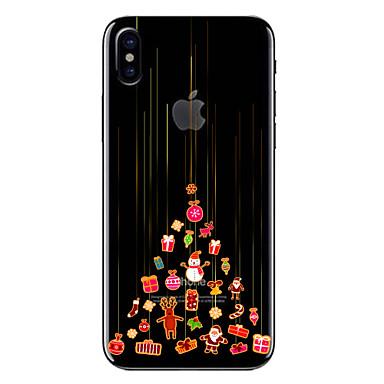 voordelige iPhone-hoesjes-hoesje Voor Apple iPhone X / iPhone 8 Plus / iPhone 8 Transparant / Patroon Achterkant Kerstmis Zacht TPU