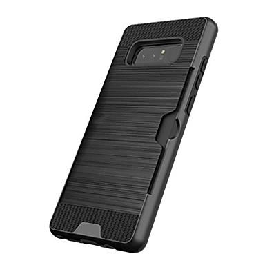 voordelige Galaxy Note 5 Hoesjes / covers-hoesje Voor Samsung Galaxy Note 8 / Note 5 Kaarthouder / Schokbestendig Achterkant Effen Hard Muovi