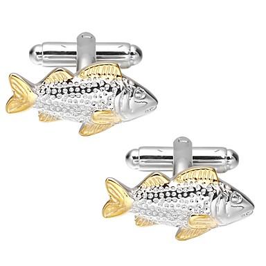 أزرار أكمام سمك بسيط كاجوال بروش مجوهرات ذهبي من أجل مناسب للبس اليومي مناسب للعطلات