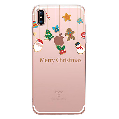 hoesje Voor Apple iPhone XS / iPhone XR / iPhone XS Max Transparant / Patroon Achterkant Kerstmis Zacht TPU