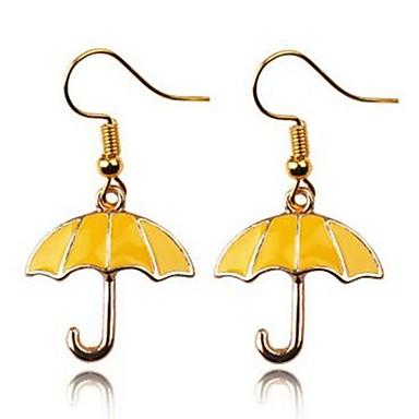 رخيصةأون أقراط-نسائي أقراط قطرة مظلة سيدات بسيط الأقراط مجوهرات ذهبي من أجل مناسب للبس اليومي مناسب للخارج 2pcs