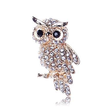 povoljno Broševi-Žene Broševi Sova Sa životinjama dame Klasik Imitacija dijamanta Broš Jewelry Zlato Za Dnevno