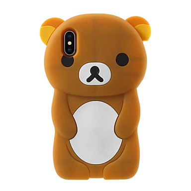 voordelige iPhone-hoesjes-hoesje Voor Apple iPhone X / iPhone 8 Plus / iPhone 8 Patroon Achterkant Cartoon Zacht Siliconen