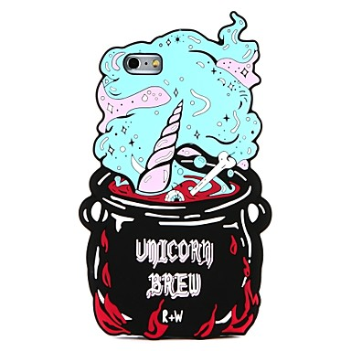 cheap iPhone Cases-Case For Apple iPhone X / iPhone 8 Plus / iPhone 8 DIY Back Cover Cartoon / 3D Cartoon Soft Silicone
