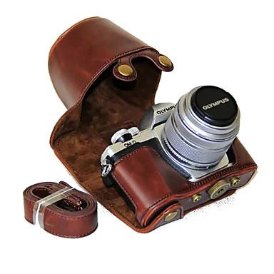olcso Tokok, táskák & pántok-dengpin® olympus om-d e-m10 mark ii em10 mark2 14-42 mm hosszú lencse pu bőr kamera tok tok vállpánttal