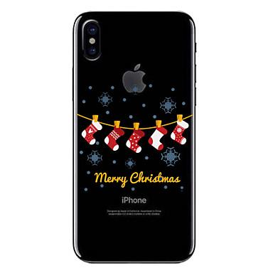 povoljno Maske za mobitele-Θήκη Za Apple iPhone X / iPhone 8 Plus / iPhone 8 Prozirno / Uzorak Stražnja maska Božić Mekano TPU