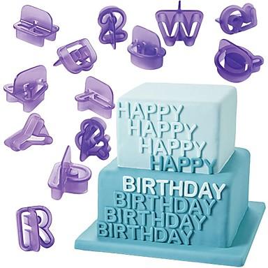 40 قطع الأبجدية عدد إلكتروني فندان كعكة العفن قطع الكعكة