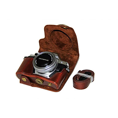 olcso Tokok, táskák & pántok-dengpin® pu bőrből készült tok táska fedelét az Olympus E-m10 mark ii em10 mark2 (14-42mm EZ lencse (vegyes színek)