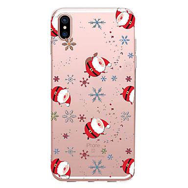 Недорогие Кейсы для iPhone X-Кейс для Назначение Apple iPhone XS / iPhone XR / iPhone XS Max Прозрачный / С узором Кейс на заднюю панель Рождество Мягкий ТПУ